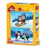 Art-Puzzle-4489 2 Puzzles - The Penguins