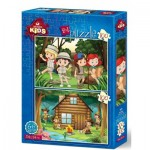 Art-Puzzle-4519 2 Puzzles - The Scout Camp