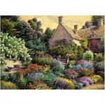 Puzzle  Art-Puzzle-4541 Cottage and Colorful Garden
