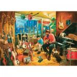Puzzle  Art-Puzzle-4643 Cross Roads Music Shops