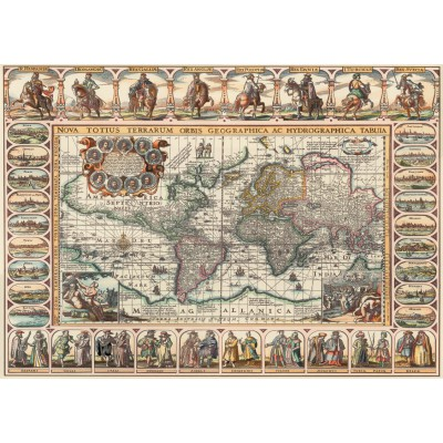 Puzzle Art-Puzzle-4711 Ancient World Map