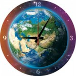 Art-Puzzle-5002 Puzzle Clock - World