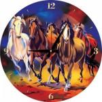 Art-Puzzle-5004 Puzzle Clock - Horses