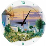 Art-Puzzle-5005 Puzzle Clock - In the Evening in Aegean