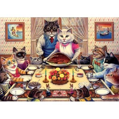 Puzzle Art-Puzzle-5025 Cat Family