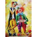 Puzzle  Art-Puzzle-5030 Musician Clowns
