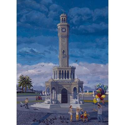 Puzzle Art-Puzzle-81054 Turkey : The Clock Tower, Izmir