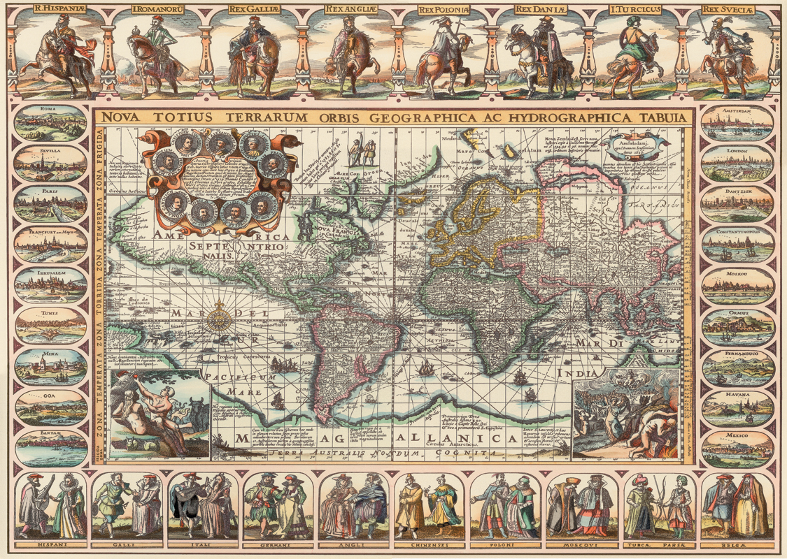 Puzzle ancient world map art puzzle 4711 2000 pieces jigsaw puzzles ancient world map gumiabroncs Image collections