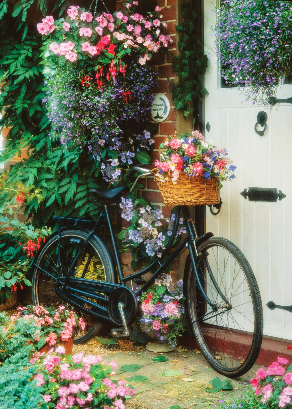 Puzzle Bicycle And Flowers Art Puzzle 4166 500 Pieces