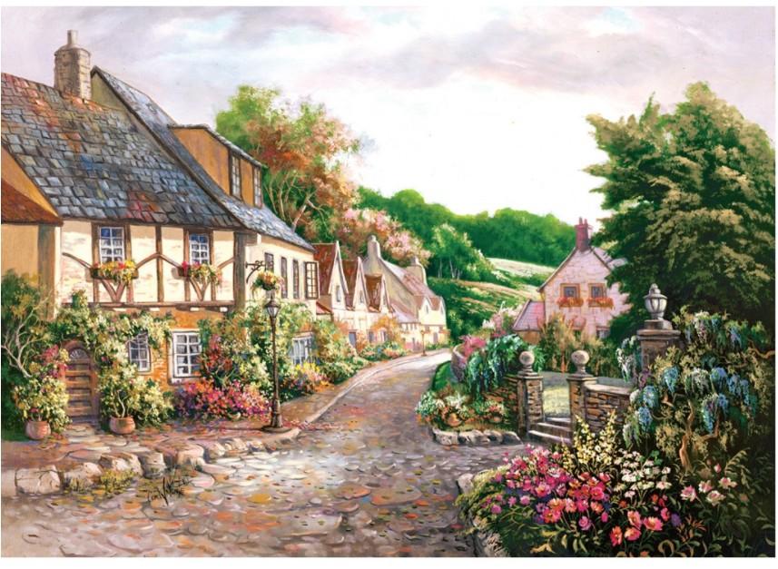 Cottages 2000 piece jigsaw puzzle