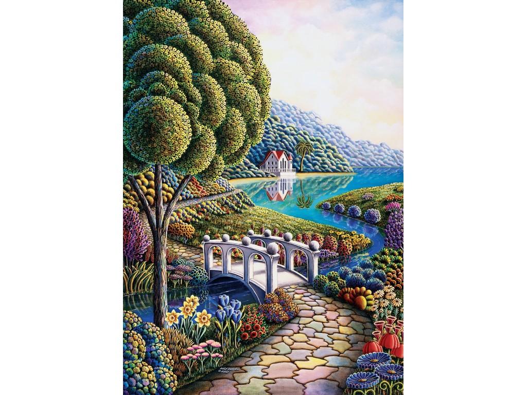puzzle flower bay artpuzzle4357 1000 pieces jigsaw