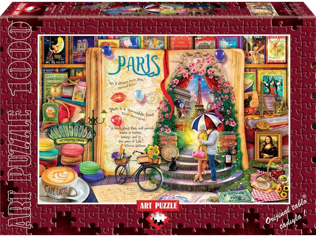 puzzle paris art puzzle 4361 1000 pieces jigsaw puzzles towns and villages jigsaw puzzle. Black Bedroom Furniture Sets. Home Design Ideas