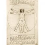 Puzzle  Art-by-Bluebird-60009 Leonardo Da Vinci - The Vitruvian Man, 1490