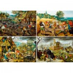 Puzzle  Art-by-Bluebird-60020 Pieter Brueghel the Younger - The Four Seasons
