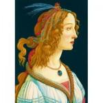 Puzzle  Art-by-Bluebird-60023 Sandro Botticelli - Idealized Portrait of a Lady, 1480