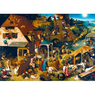 Puzzle Art-by-Bluebird-60028 Pieter Bruegel the Elder - Netherlandish Proverbs, 1559