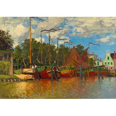 Puzzle Art-by-Bluebird-60031 Claude Monet - Boats at Zaandam, 1871