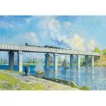 Puzzle  Art-by-Bluebird-60038 Claude Monet -Railway Bridge at Argenteuil, 1873