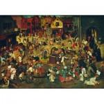 Puzzle  Art-by-Bluebird-60125 Pieter Bruegel the Elder - The Fight Between Carnival and Lent, 1559