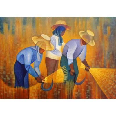 Puzzle Art-by-Bluebird-60137 Louis Toffoli - La Récolte, 1977