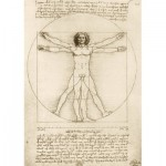 Puzzle  Art-by-Bluebird-Puzzle-60009 Leonardo Da Vinci - The Vitruvian Man, 1490