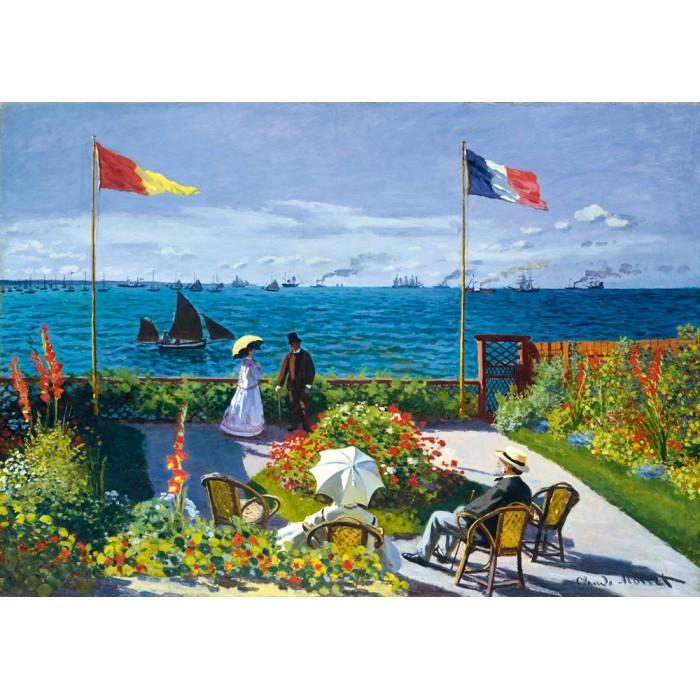 Claude Monet - Garden at Sainte-Adresse, 1867