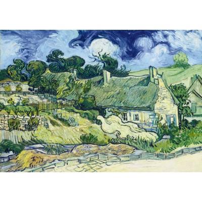 Puzzle Art-by-Bluebird-Puzzle-60113 Vincent Van Gogh - Thatched Cottages at Cordeville, 1890