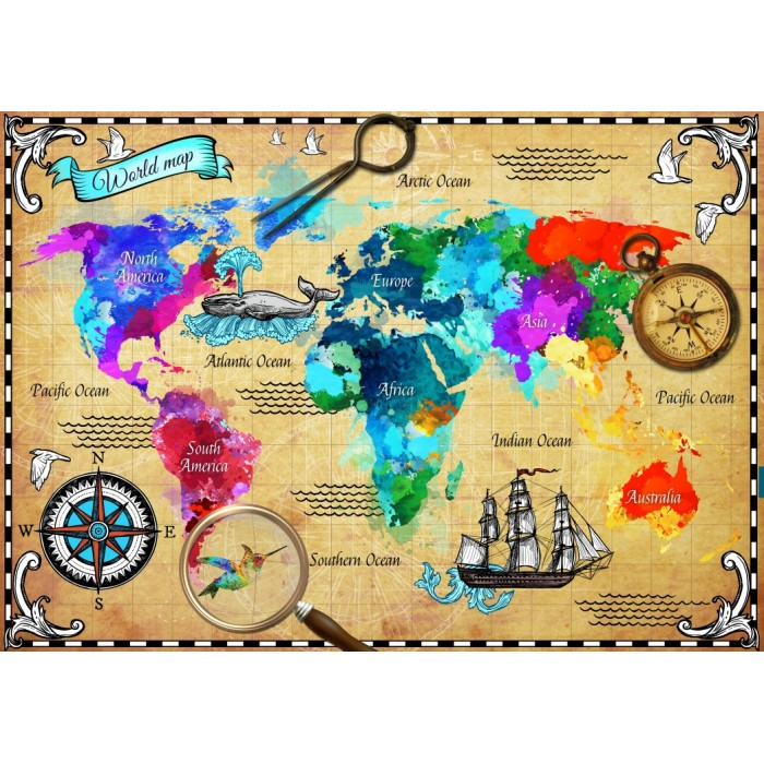 Map Of Australia Jigsaw Puzzle.Jigsaw Puzzle World Maps And Mappemonde Jigsaw Puzzle Co Uk