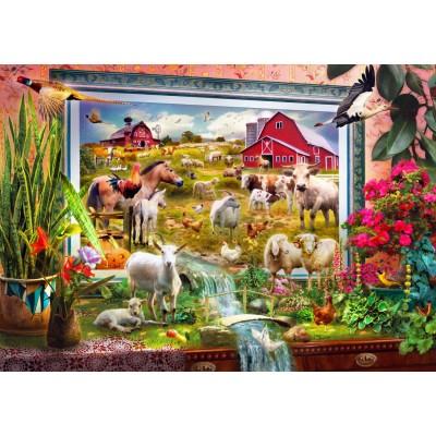 Puzzle Bluebird-Puzzle-70029 Magic Farm Painting