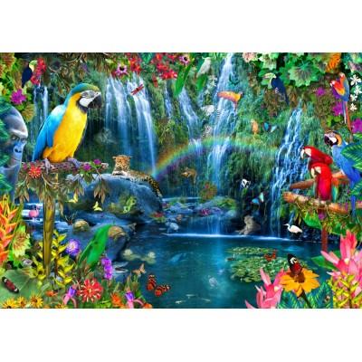 Puzzle Bluebird-Puzzle-70030 Parrot Tropics