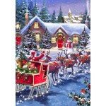 Puzzle  Bluebird-Puzzle-70073 Santa And Sleigh