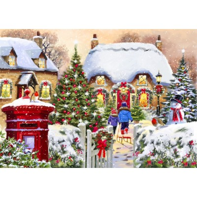 Puzzle Bluebird-Puzzle-70076 Winter Cottage
