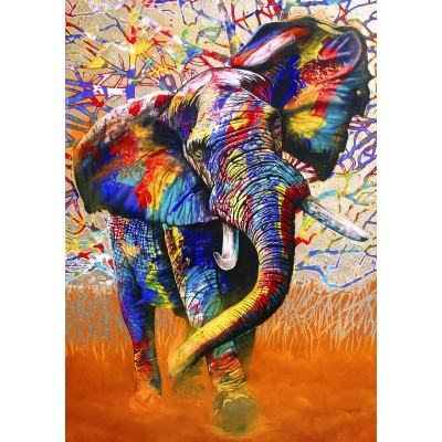 African Colours 1500 piece jigsaw puzzle