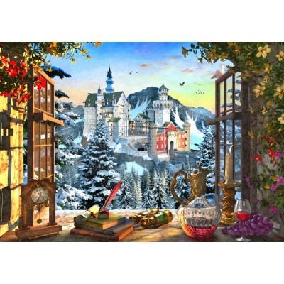 Puzzle Bluebird-Puzzle-70122 Mountain Castle