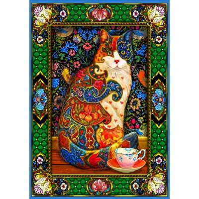 Puzzle Bluebird-Puzzle-70152 Painted Cat