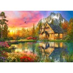 The Mountain Cabin 1000 piece jigsaw puzzle