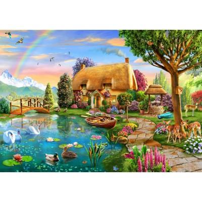 Puzzle Bluebird-Puzzle-70167 Lakeside Cottage