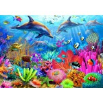 Puzzle  Bluebird-Puzzle-70169 Dolphin Coral Reef
