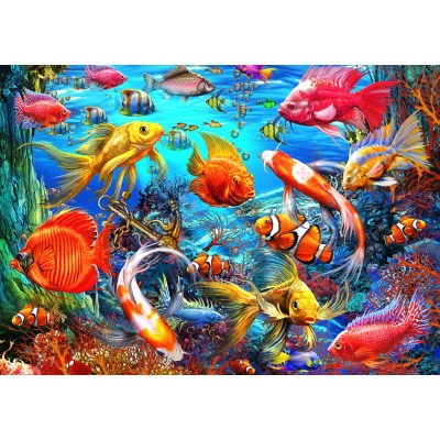 Puzzle Bluebird-Puzzle-70192 Tropical Fish
