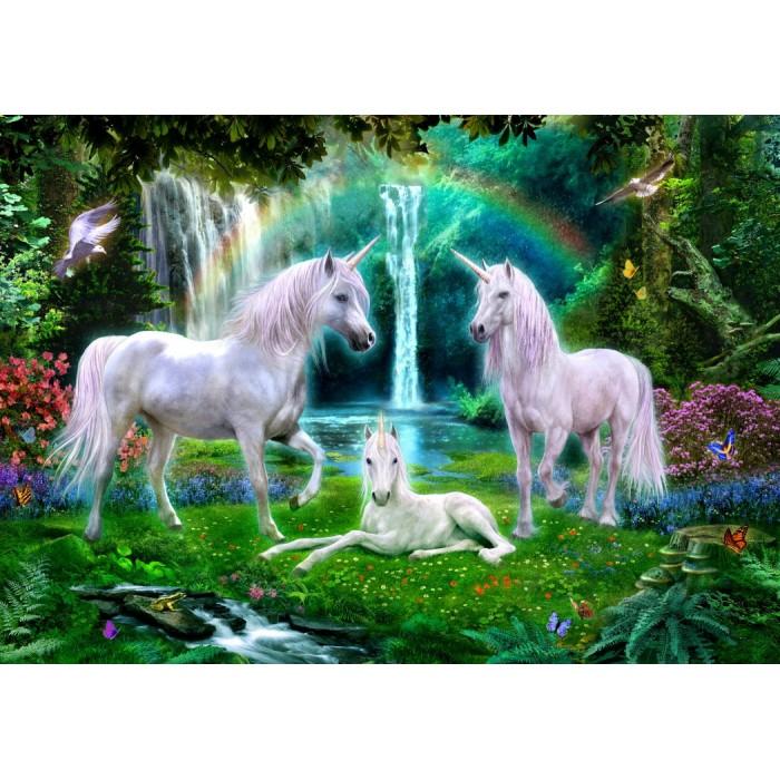 Rainbow Unicorn Family