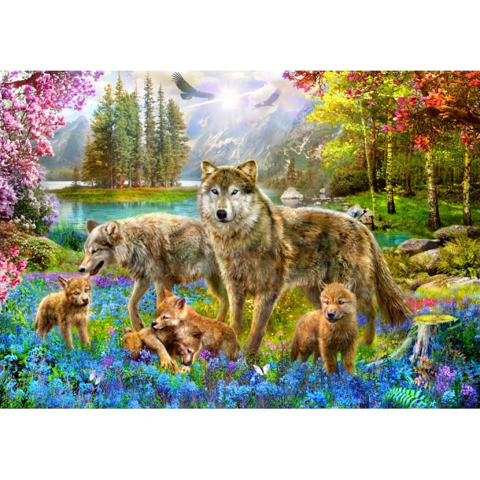 Spring Wolf Family