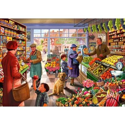 Puzzle Bluebird-Puzzle-70232-P Village Greengrocer