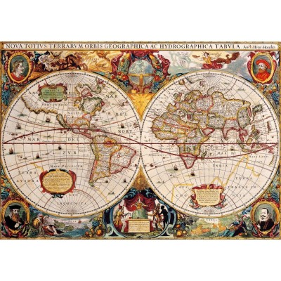 Puzzle Bluebird-Puzzle-70246-P Antique World Map