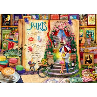 Puzzle Bluebird-Puzzle-70262-P Life is an Open Book Paris