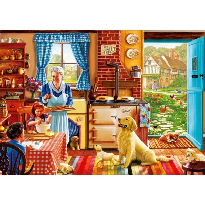 Puzzle Bluebird-Puzzle-70323-P Cottage Interior