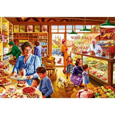 Puzzle Bluebird-Puzzle-70326-P Nostalgic Cake shop