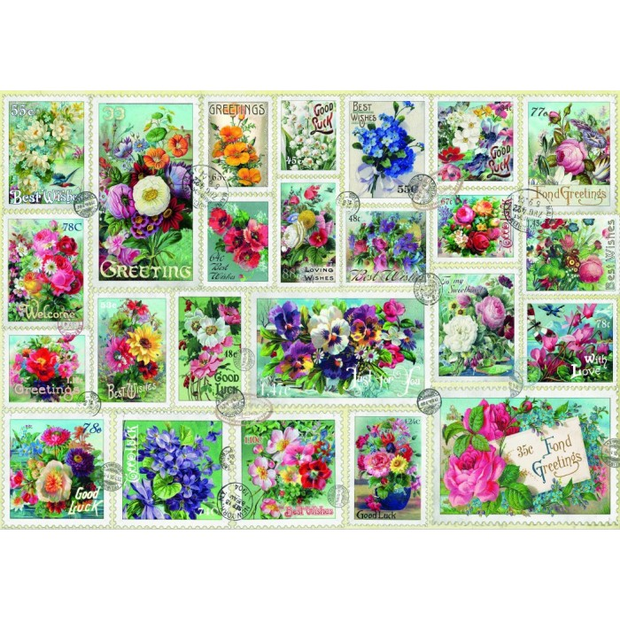 Stamp Flower Collection
