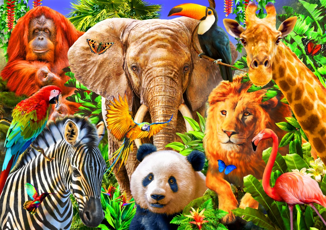 Animals for kids 500 piece jigsaw puzzle