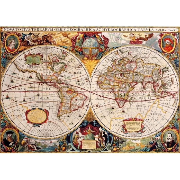 Antique World Map Puzzle 1000 pieces