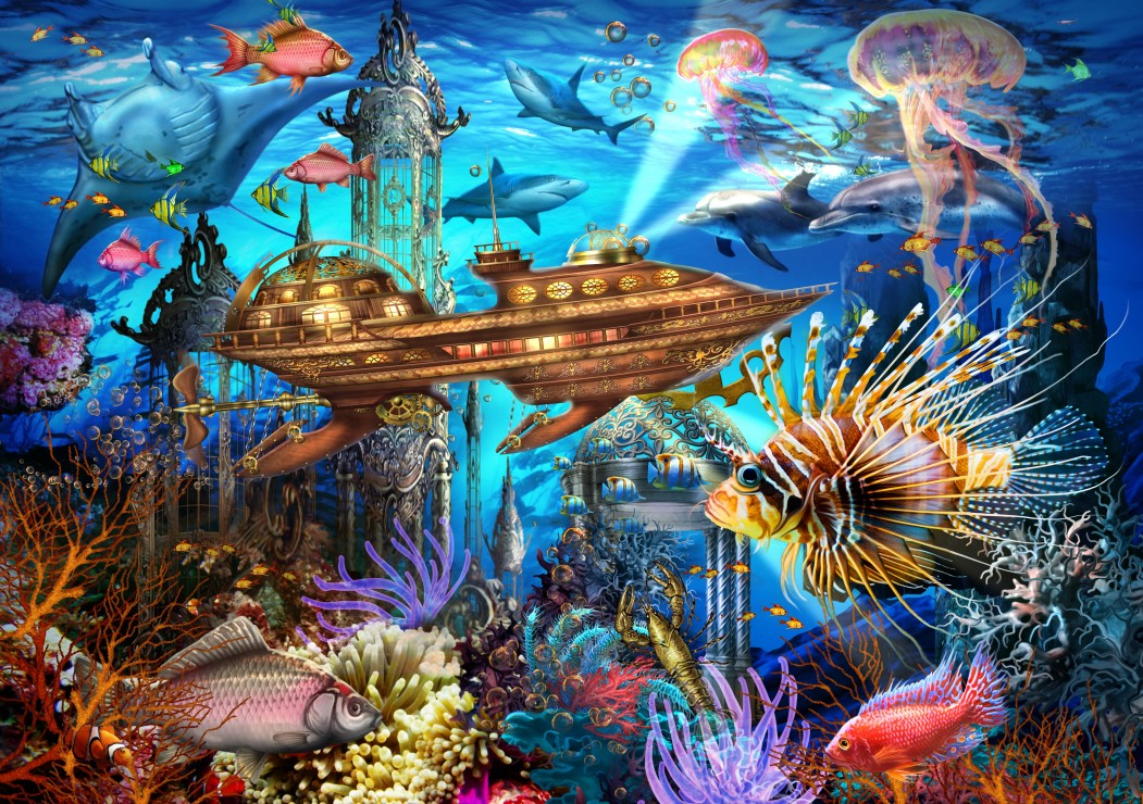 Aqua City 1000 piece jigsaw puzzle